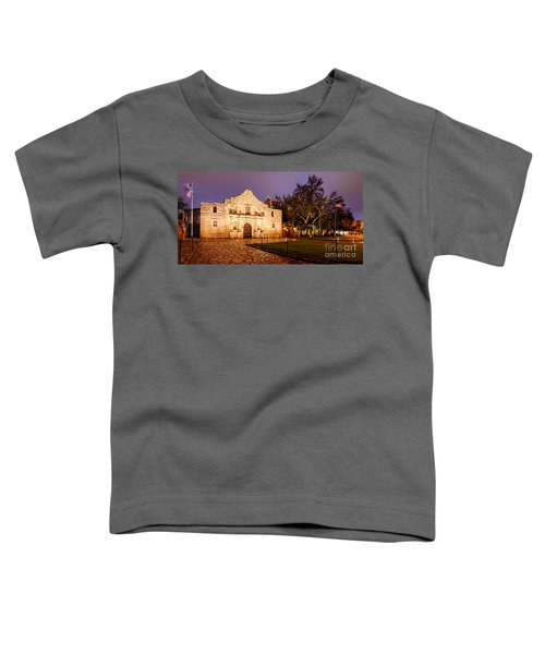 Panorama Of The Alamo In San Antonio At Dawn - San Antonio Texas Toddler T-Shirt