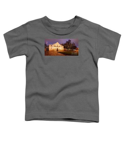 Panorama Of The Alamo In San Antonio At Dawn - San Antonio Texas Toddler T-Shirt