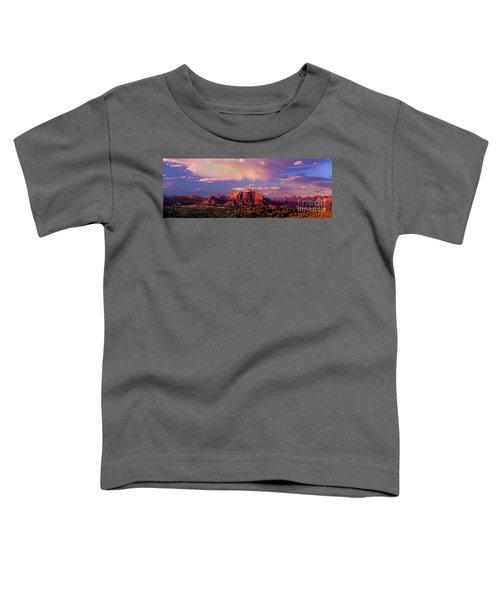Panorama West Temple At Sunset Zion Natonal Park Toddler T-Shirt