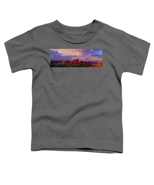 Panorama West Temple At Sunset Zion Natonal Park Toddler T-Shirt