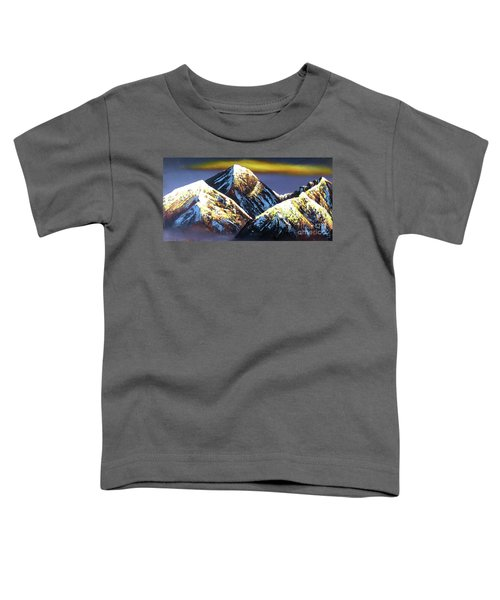 Panoramic Night View Of Everest Mountain Toddler T-Shirt