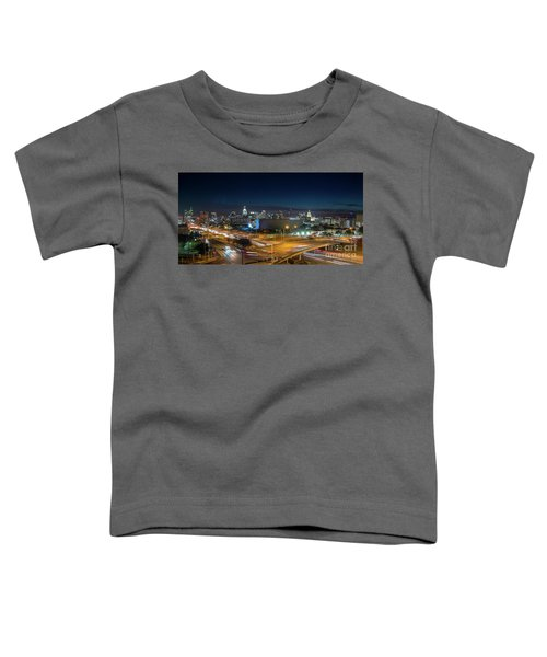 Panoramic View Of Busy Austin Texas Downtown Toddler T-Shirt