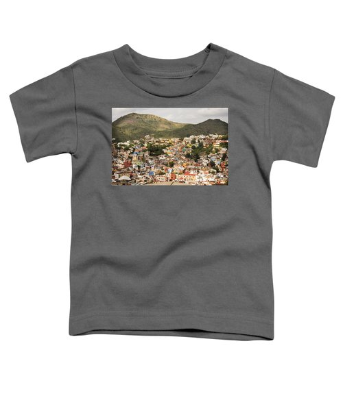 Panoramic View Of Colorful Hillside Homes In Guanajuato Mexico Toddler T-Shirt