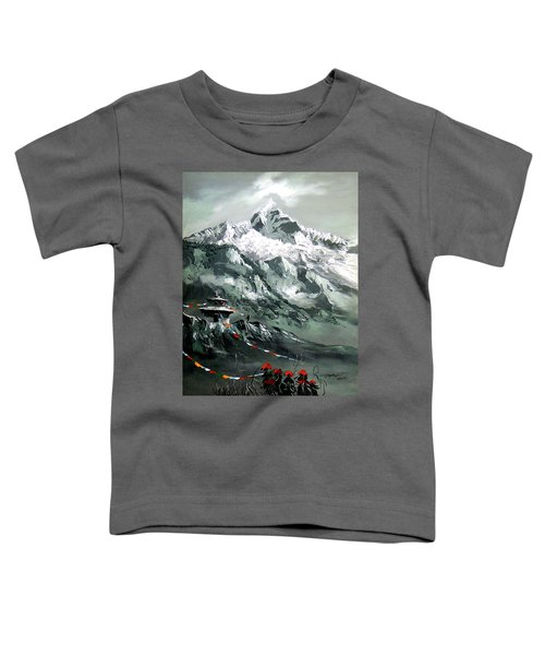 Panoramic View Of Mountain Everest Toddler T-Shirt