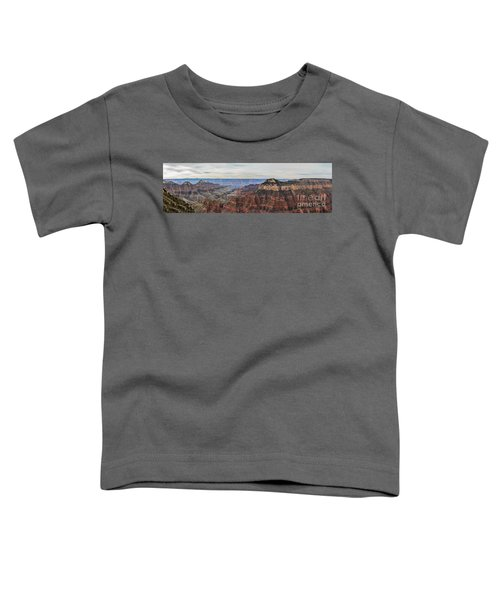 Panoramic View Of The North Rim Toddler T-Shirt