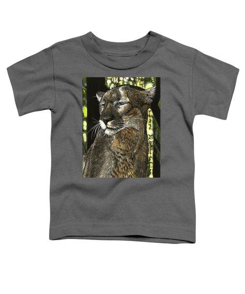 Panther Contemplates Toddler T-Shirt