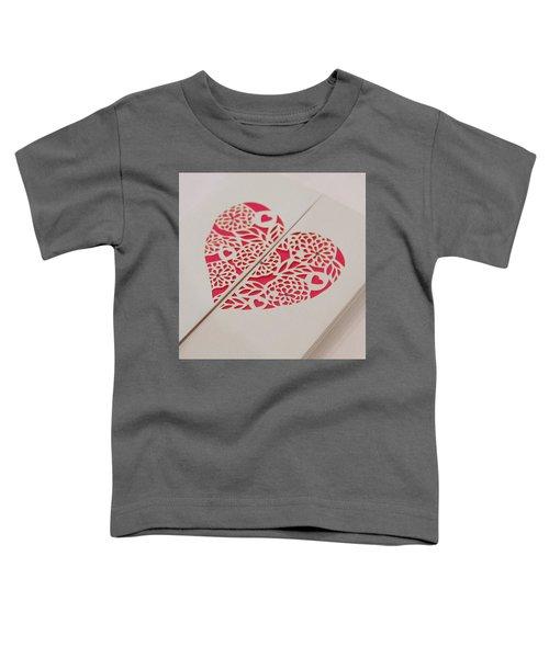 Paper Cut Heart Toddler T-Shirt