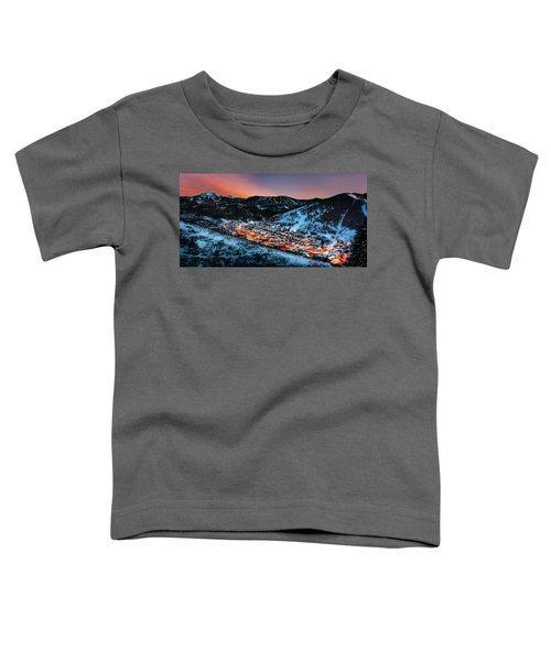 Park City Winter Sunset Toddler T-Shirt