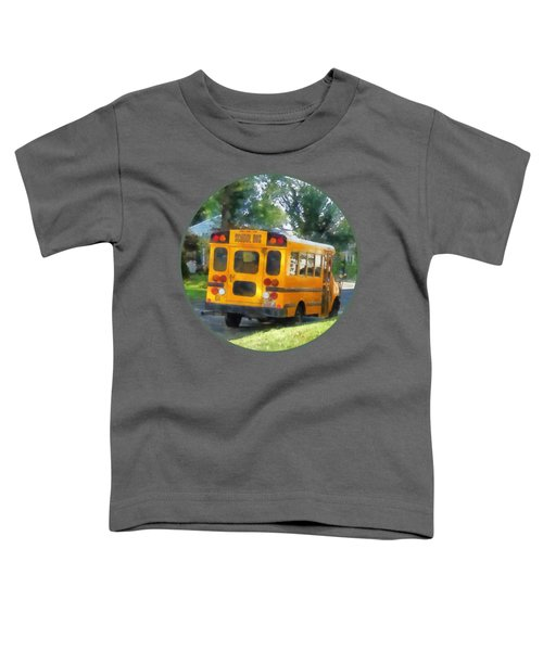 Parked School Bus Toddler T-Shirt