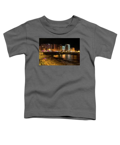 Particolored Midnight - Tower Road Waterfront In Sliema Malta Toddler T-Shirt