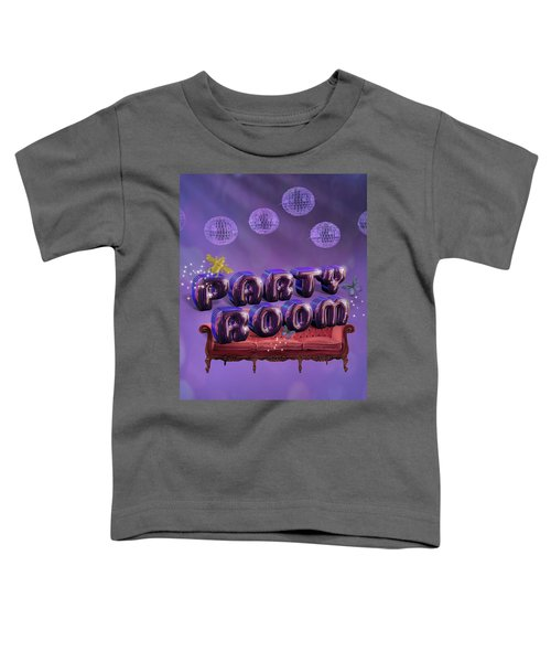 Party Room Toddler T-Shirt by La Reve Design