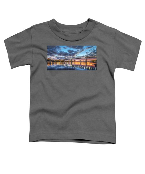 Passing Clouds Above Chattanooga Pano Toddler T-Shirt