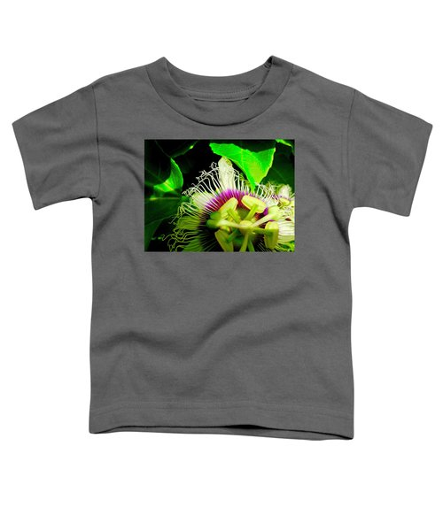 Passion Flower 2 Reflecting Toddler T-Shirt