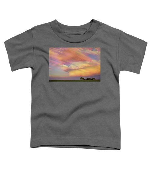 Toddler T-Shirt featuring the photograph Pastel Painted Big Country Sky by James BO Insogna