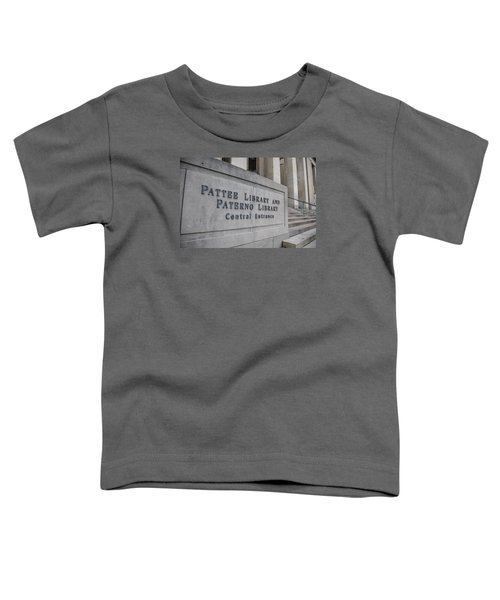 Paterno Library At Penn State  Toddler T-Shirt by John McGraw