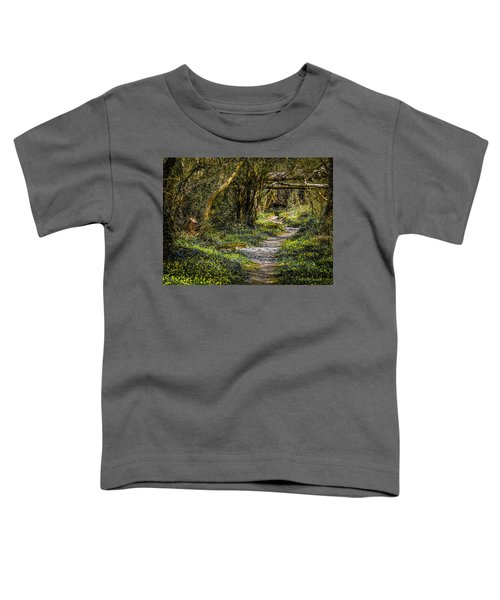 Toddler T-Shirt featuring the photograph Path Through Yeats' Fairy Forest by James Truett