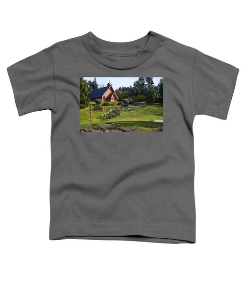 Rustic Church Surrounded By Trees In The Argentine Patagonia Toddler T-Shirt