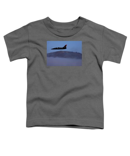 Patriot Jet Skims The Fog Over San Francisco Bay Toddler T-Shirt