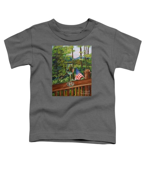 Star Spangled Wine - Fourth Of July - Blue Ridge Mountains Toddler T-Shirt