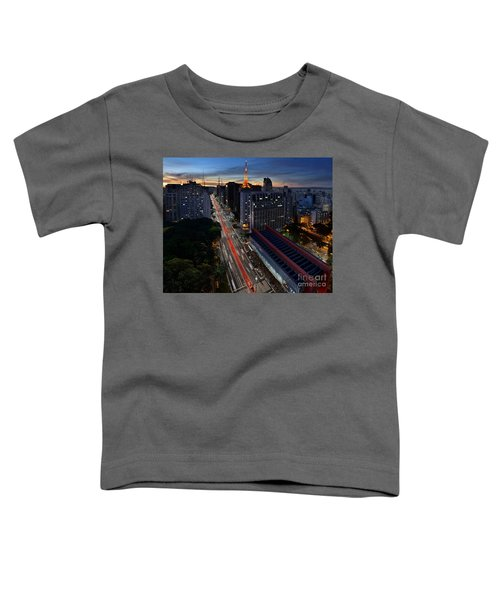 Paulista Avenue And Masp At Dusk - Sao Paulo - Brazil Toddler T-Shirt