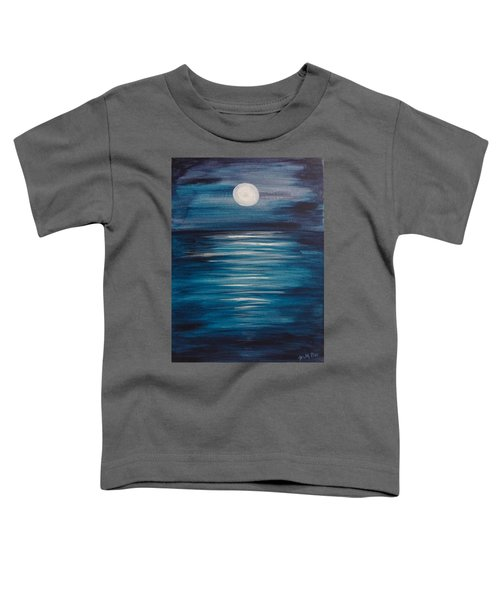 Peaceful Moon At Sea Toddler T-Shirt