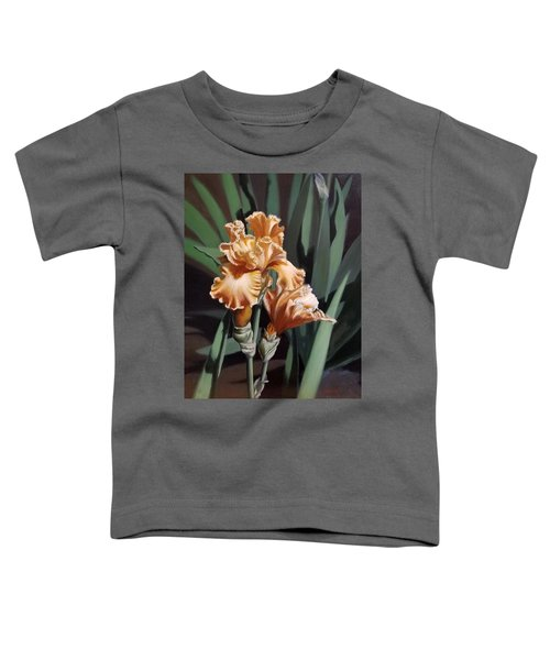Peach Iris Toddler T-Shirt