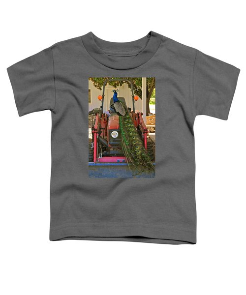 Peacock And His Ride Toddler T-Shirt