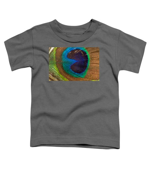 Peacock Feather Macro Detail Toddler T-Shirt