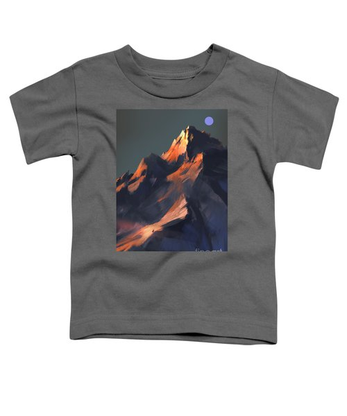 Toddler T-Shirt featuring the painting Peak by Tithi Luadthong
