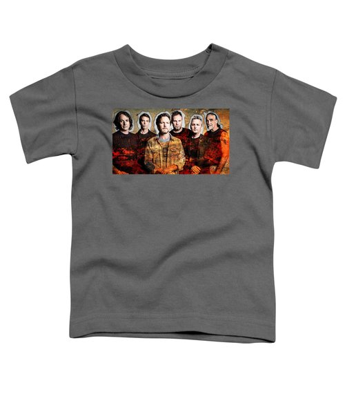 Toddler T-Shirt featuring the mixed media Pearl Jam by Marvin Blaine