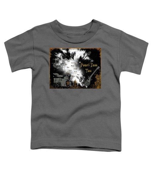 Pearl Jam Ten Toddler T-Shirt by Michael Damiani
