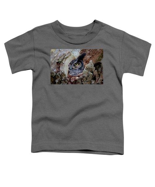 Peek A Boo Owl Toddler T-Shirt