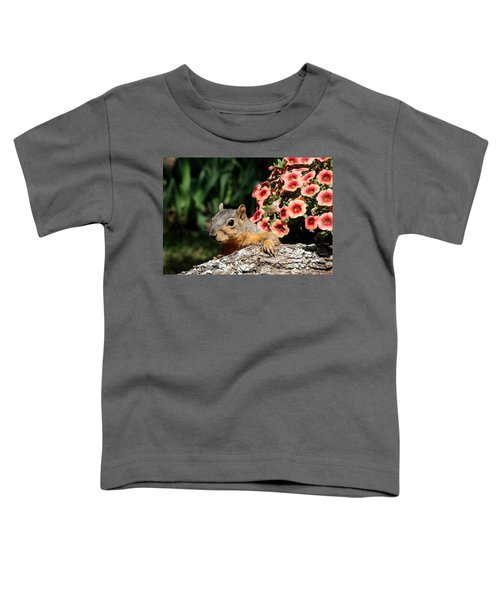 Peek-a-boo Squirrel Toddler T-Shirt