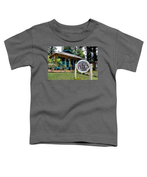 Pele's Lanai Style Toddler T-Shirt by DJ Florek