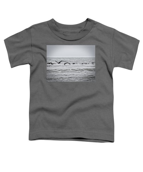 Pelican Black And White Toddler T-Shirt