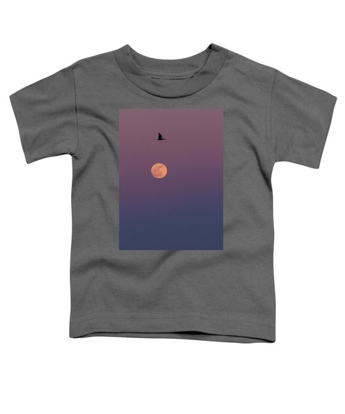 Pelican Over The Moon Toddler T-Shirt