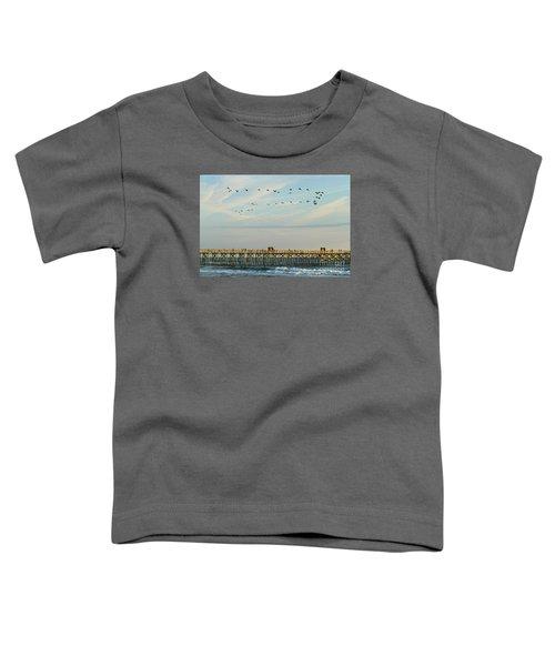 Pelicans At Flagler Beach Toddler T-Shirt