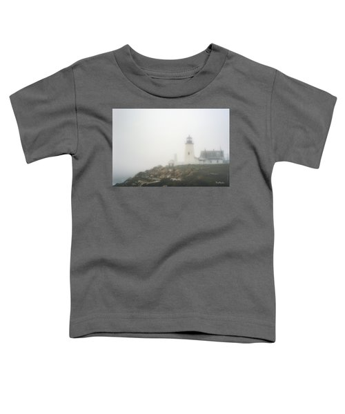 Pemaquid Point Lighthouse In Fog Toddler T-Shirt