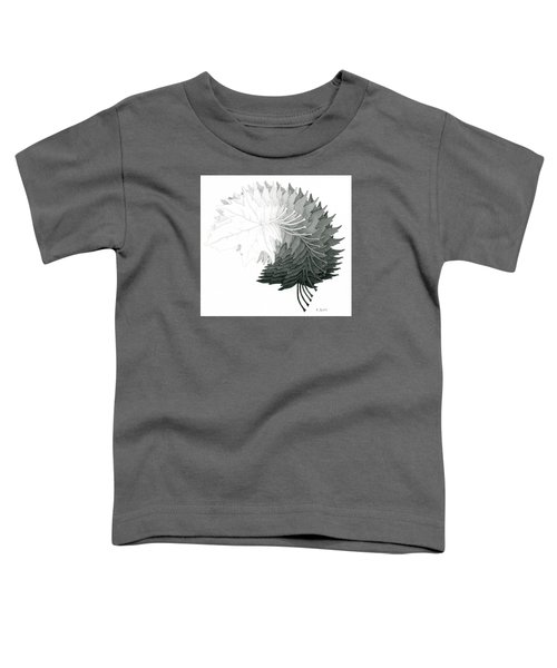 Pencil Drawing Of Maple Leaves Toddler T-Shirt