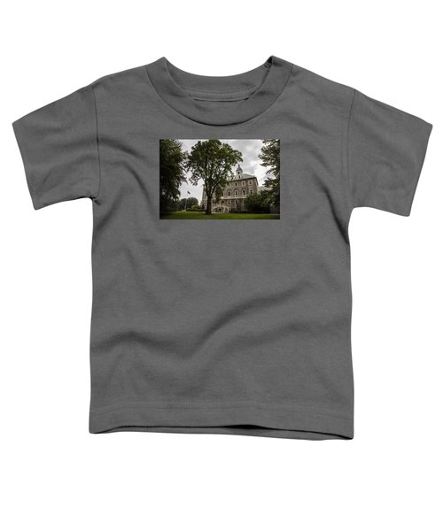 Penn State Old Main And Tree Toddler T-Shirt by John McGraw