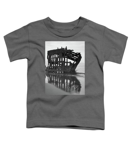Peter Iredale Shipwreck In Black And White Toddler T-Shirt