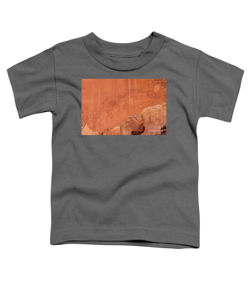 Petroglyphs In Capital Reef Toddler T-Shirt