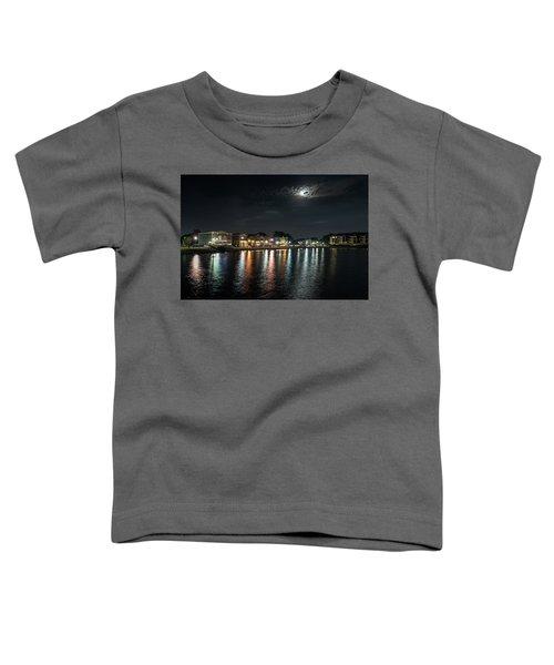 Pewaukee At Night Toddler T-Shirt by Randy Scherkenbach