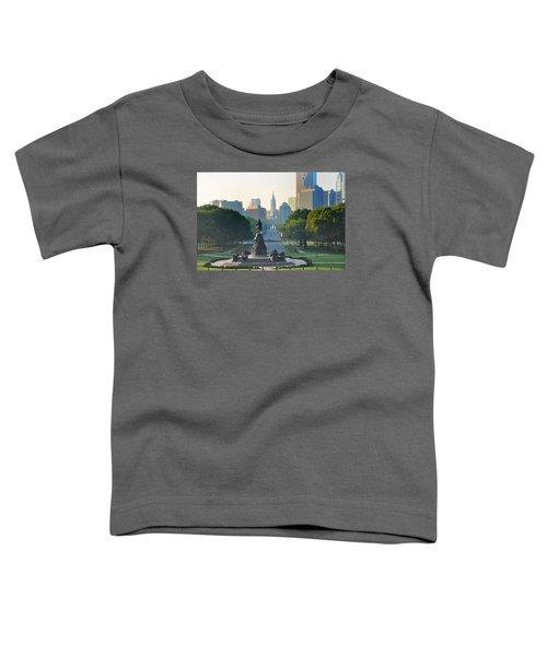 Philadelphia Benjamin Franklin Parkway Toddler T-Shirt
