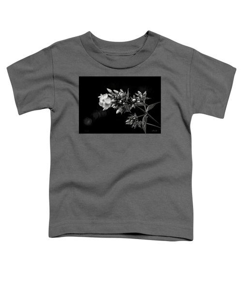 Phlox In Black And White Toddler T-Shirt