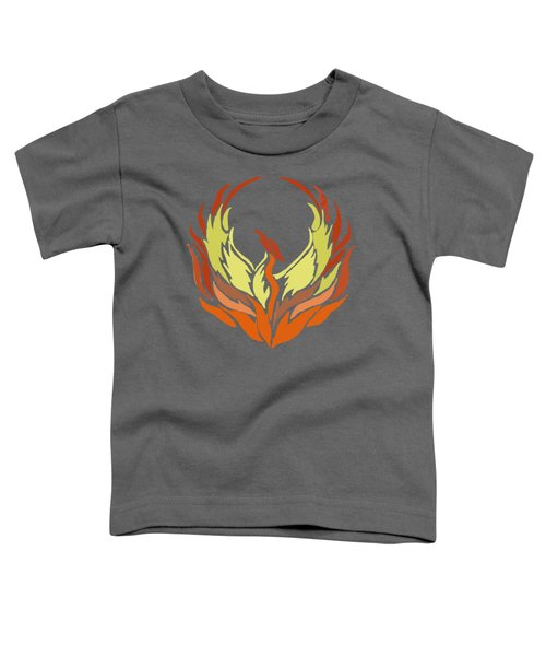 Phoenix Bird Toddler T-Shirt by Priscilla Wolfe