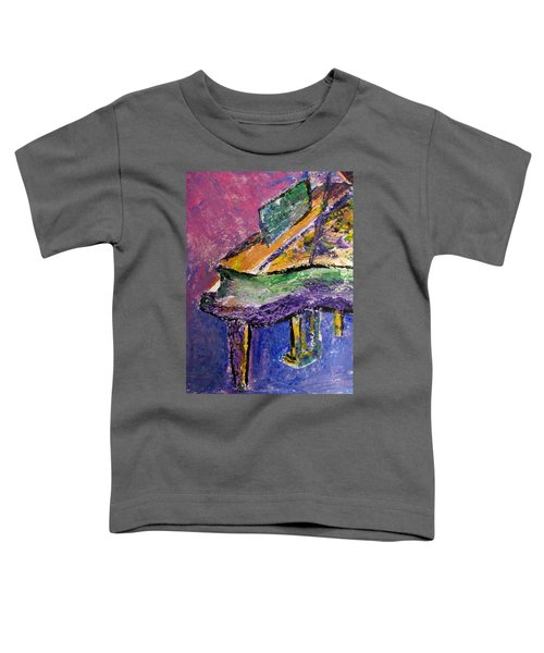 Piano Purple - Cropped Toddler T-Shirt