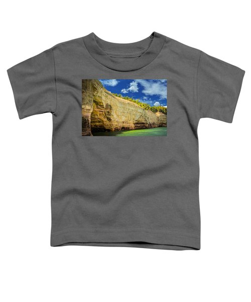 Pictured Rocks Cliff Toddler T-Shirt