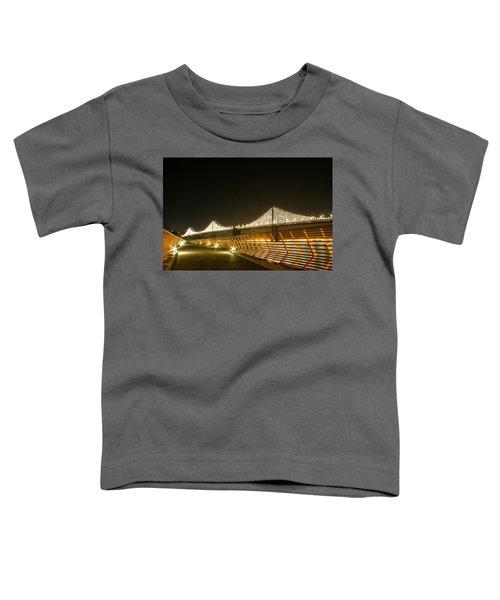 Pier 14 And Bay Bridge Lights Toddler T-Shirt
