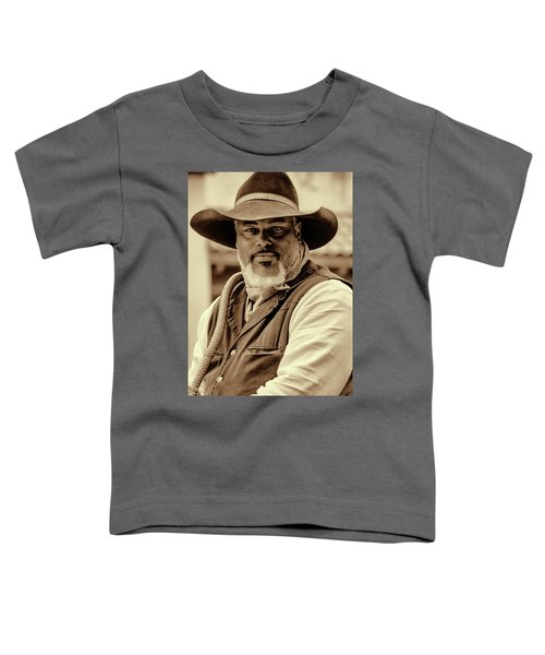 Piercing Eyes Of The Cowboy Toddler T-Shirt